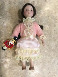 "American Girl Samantha Christmas Doll CLARA 6"" & Wood Nutcracker Toy RARE"