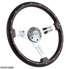 """15"""" Steering Wheel Chrome Classic Chevrolet Truck Any Year 1948 - 2002 Full Kit!"""