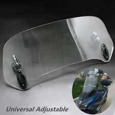 Motorcycle Adjustable Windscreen Spoiler Air Deflector Wind Protection Universal