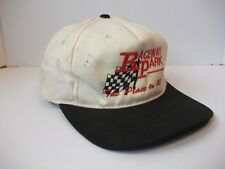 Raceway Park The Place To Race Hat Dirty Black White Snapback Baseball Cap