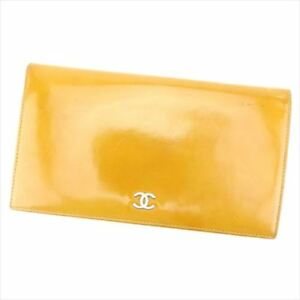 Chanel Wallet Purse COCO Brown leather Woman unisex Authentic Used H603