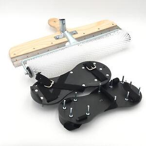 Bodenbeschichtung Set: Entlüfterrolle + Nagelschuhe + Stehrakel Großflächenrakel