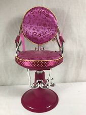 "18"" Beauty Salon Hot Pink Chair Our Generation American Girl Doll Battat Toy"