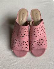 EUC American Eagle Pumps   Sandals Old Rose SuedeLeather Shoes Womens Size 11 US