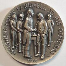 1783 WASHINGTON'S FAREWELL SILVER BU UNC COIN