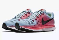 Nike Air Zoom Pegasus 34 Blue Pink women Running Size 8wide Sneakers 8805601-406