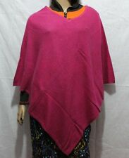 """100% CASHMERE Poncho-colore """"Rosa"""" Pashmina Poncho-HAND MADE IN NEPAL"""