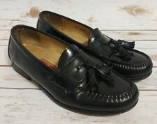 Cole Haan Men's Size 8.5D Medium Black Leather Slip On Loafers Shoes w/ Tassels