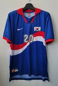 1996-97 Korea Away S/S No.20 M B HONG Player Issue 1998WC Qualifying Defect