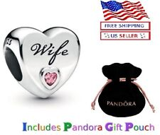 New Authentic PANDORA Sterling Silver S925 ALE Wife Love Heart Charm