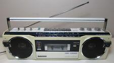 SANYO M7770K SW AM FM CASSETTE BOOMBOX GHETTO BLASTER RADIO SERVICED NEW BELTS