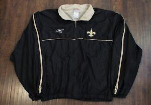 New Orleans Saints Reebok NFL Lightweight Jacket Coat Sz. XL