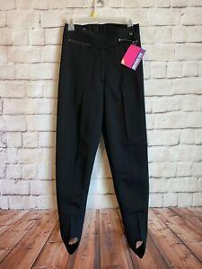 Obermeyer Skin Stretch Ski Pants, NWT, Nylon/Wool Blend, Stirrups, 8