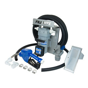 Fill Rite DF012CAN520-RP Stainless Steel 12V 8GPM DEF Transfer Pump Kit, Gray