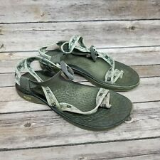 Chaco Classic Sports Sandal Toe Strap Beige Water Hiking Womens Size 7