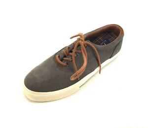 Polo Ralph Lauren Men's Vaughn Sport Suede Sneakers Char Grey, Size 7.5 D