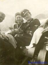 *Rare! German Elite Waffen Oberscharführer Panzerman w/ Cuff Title & Girl!*