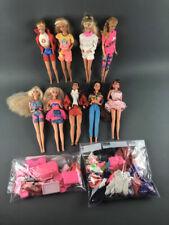 Vintage Lot Of Dolls 8 Barbies & 1 Ken 1966 68 Plus Mixed Clothes & Accessories