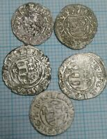 Ferdinand II 1618-1637 Hungary medieval silver denar, Holly Marry holding Jesus