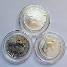 Australia 50 Cents 2014 2015 2016 Australian Sharks Silver 999 Complete Coin Set