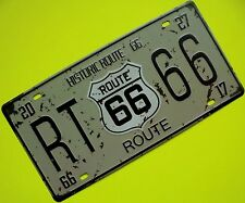 Tin Sign Nostalgie Blechschild Route Historic 66 USA Deko 16 x 30 cm 4 Löcher