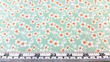 TILDA BUMBLEBEE FLORAL CHERRY BLOSSOM TEAL WHITE COTTON QUILT FABRIC