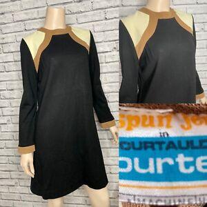 Vintage Black A Line Dress - 1960's Mod Sixties