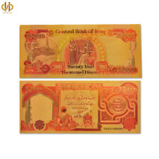 Color Gold Plated Banknote Iraq 1000 Dinar Gold Banknote Paper Money Collecting