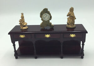 Dolls House Console Table With Ornaments