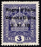 EBS Italy 1918 - Occupation of Venezia Giulia  - Unificato 1 MNH** $8