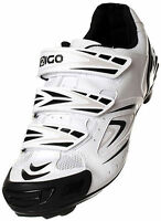 EIGO ANTARES CYCLING SHOES - ROAD TOURING COMMUTER BIKE CYCLE -  WHITE