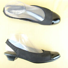 "Munro American Block Heel 1.5"" Slingback Patent Leather Cap Toe Narrow US 7 A"