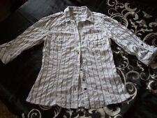 Rayon 3/4 Sleeve Regular Striped Tops & Shirts for Women