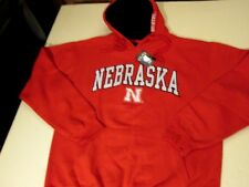 NEBRASKA CORNHUSKERS PULLOVER HOODED SWEATSHIRT MENS SIZE LARGE - RED - NWT
