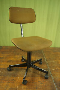 Vintage Office Chair Swivel Chair Desk Chair Architects Metal Stoll 70s