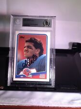 HOF Football Andre Reed Autographed Card Beckett Authenticated Encapsulate