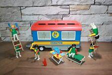 Playmobil zum Zirkus blauer Klicky Zirkuswagen mit Figuren Clowns und Zubehör