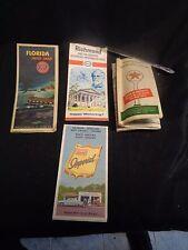 Vintage Lot of 4 Old United States Maps South North Carolina Florida Richmond