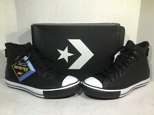 Converse Mens Size 7.5 CTAS Winter Hi Black Leather Lined Athletic Shoes ZB-446