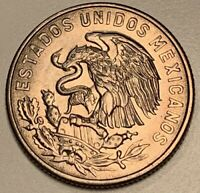 1964-Mo MEXICAN CINCUENTA 50 CENTAVOS BU UNC COIN WITH GREAT LUSTER!
