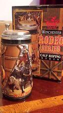Budweiser anheuser busch AB stein Gerz Winchester Rodeo Calf Roping gm19 western