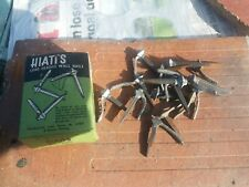 Vintage Hiatts Lead Headed Nails. Box of 16. Made in England.