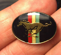 Ford Mustang enamel pin vintage auto car logo NOS hat lapel bag sports new 80s