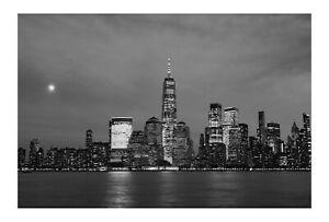 NEW YORK  cityscape nightime  print photo art landscape city