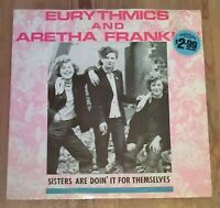 "Eurythmics / Aretha ‎– Sisters Are Doin' It For Themselves Vinyl 12"" Single 1985"