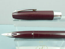 """Vintage Sheaffer Imperial 330 Burgundy Cartridge Fountain Pen, CT  """"Ex Cond"""""""