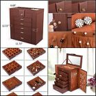 Cristmas Gift For Woman Who Has Everything Huge Leather Jewelry Box Case Storage