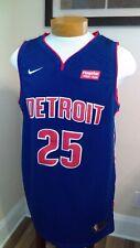 Derrick Rose Detroit Pistons NBA Nike Swingman Stitched Jersey Blue Size 54 NWT