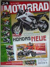 Zeitschrift Motorrad 12.11.2010, Honda V4 Funbike, CBR 600 F, MV Augusta u.a.