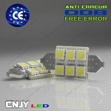2 AMPOULE 6 LED SMD BIPOLAIRE POUR PLAFONNIER  C5W C10W 36~37MM XENON 12V BLANC